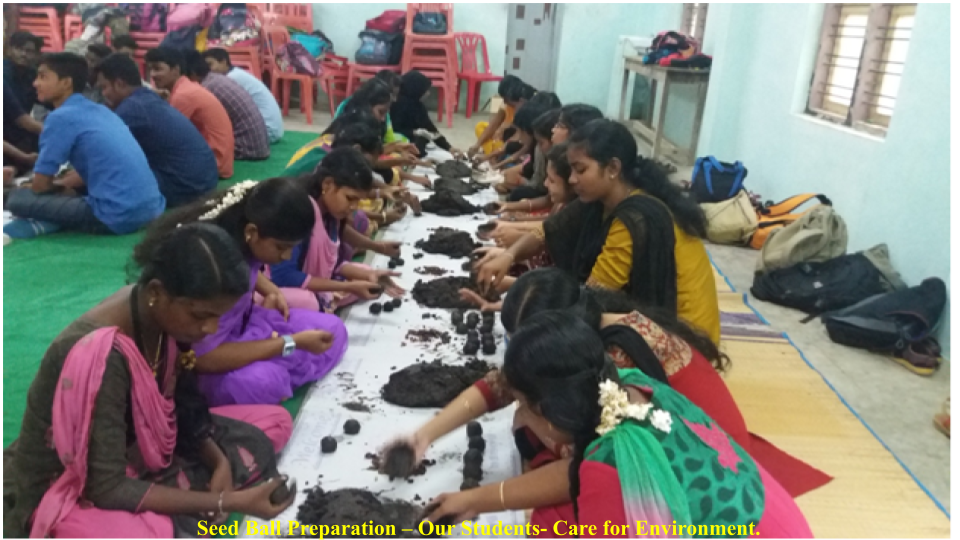 Seed Ball Preparation – Our Students- Care for Environment.